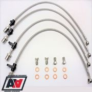 Subaru Stainless Brake Line Kit Front And Rear Impreza 01-07